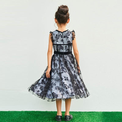 Mother and Daughter Lace Evening Dress - Little Palace Store