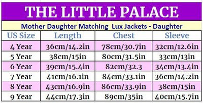 Mother Daughter Matching Lux Jackets - Daughter Jackets & Coats Little Palace Store