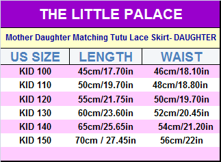 Mother Daughter Matching Tutu Lace Skirt - Little Palace Store