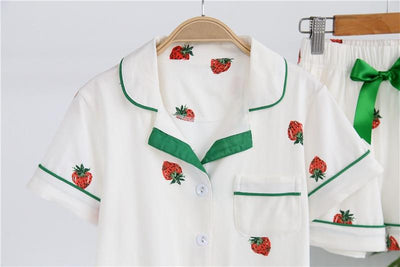 Mother Daughter Strawberry Pajama Set - Little Palace Store
