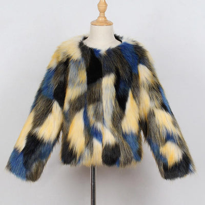 Multi Color Fur Jacket - Little Palace Store
