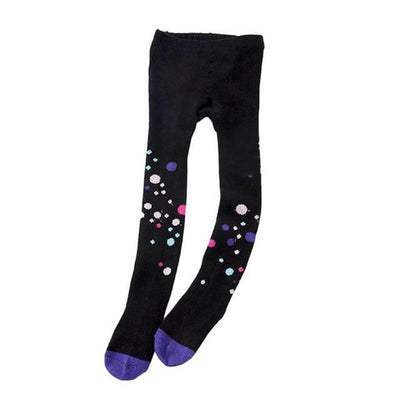 Multi Print Knit Cotton Tights - Little Palace Store