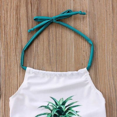 Pineapple Print Swimsuit - Little Palace Store