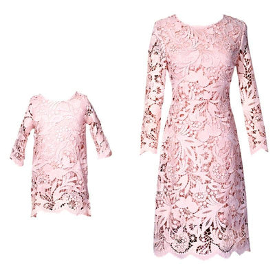 Pink  Queen and Princess Matching Dress - Little Palace Store