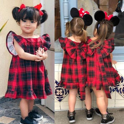 Plaid Princess Ruffle Dress - Little Palace Store