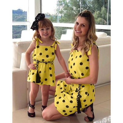 Polka Dot Mom and Daughter Matching Dress - Little Palace Store