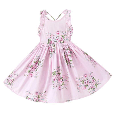 Pretty in Floral Dress - Little Palace Store
