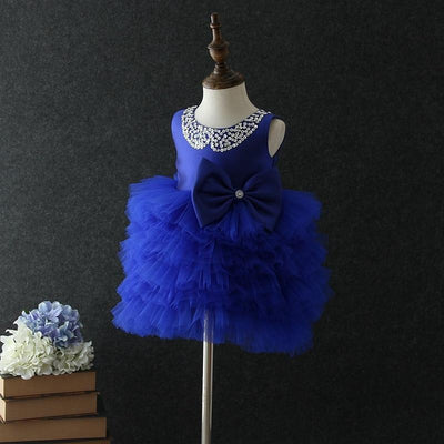 Princess Bow And Tutu Dress Dresses Little Palace Store Blue 1T