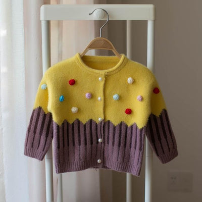 Princess Sweater With Pompoms-Priority Shipping - Little Palace Store