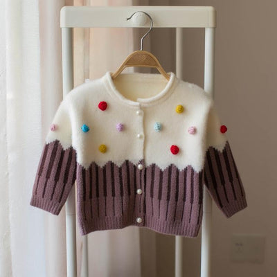 Princess Sweater With Pompoms - Little Palace Store