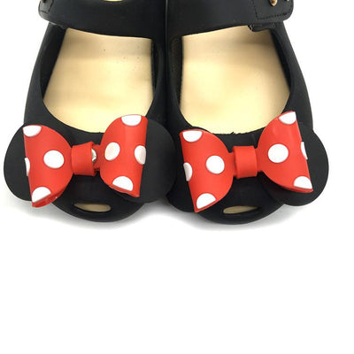 Priority Shipping -  Bowtique Polka Dotty Jelly Sandals - Little Palace Store