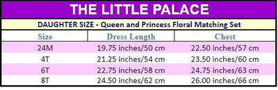 Queen and Princess Floral Matching Set - Little Palace Store