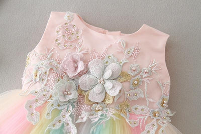 Rainbow Mini Princess Dress - Little Palace Store