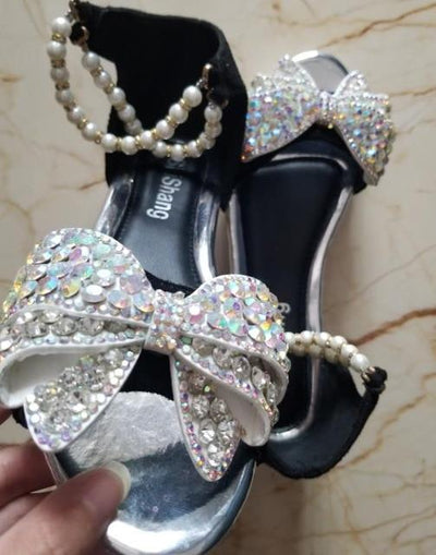 Rhinestones Glitter Sandals - Little Palace Store