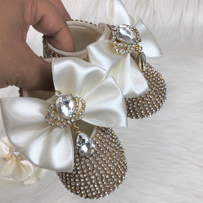 Shining Mini Princess  Bowknot Shoes - Little Palace Store