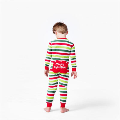 Stripes Christmas Matching Pajamas Suit Set - Little Palace Store
