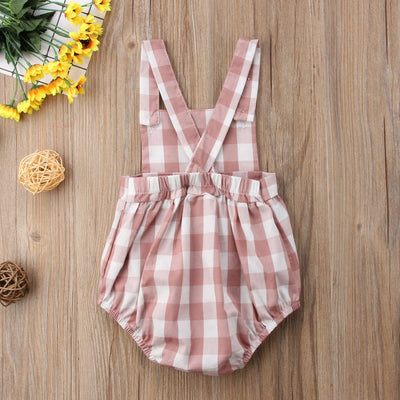 Summer Checkered Romper - Little Palace Store