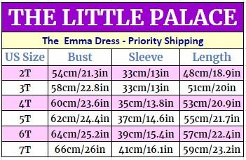 The Emma Dress - Priority Shipping Dresses Little Palace Store
