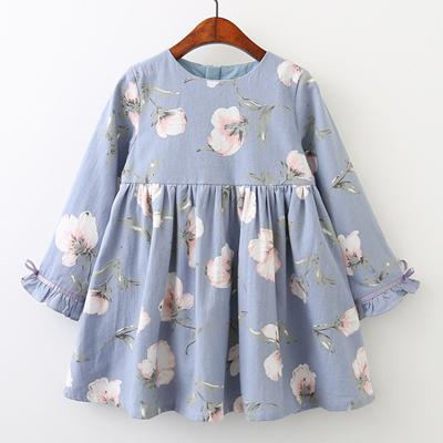 The Emma Dress - Priority Shipping Dresses Little Palace Store Sky Flower 3T
