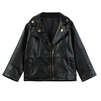 Trendy Girl PU Leather Jacket - Little Palace Store