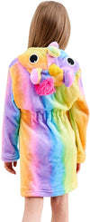 Unicorn Hooded Bathrobe with Slippers Set - Priority Shipping Unicorn Little Palace Store