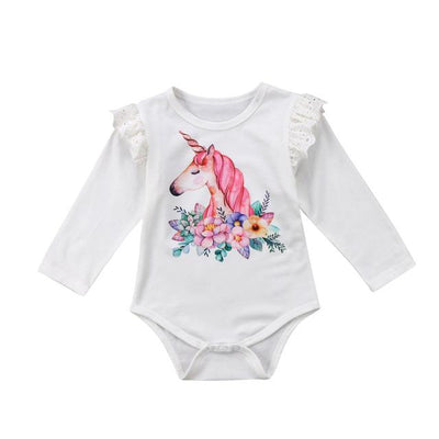 Unicorn Pattern Romper  - Little Palace Store