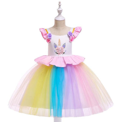 Unicorn Rainbow Princess Dress - Little Palace Store