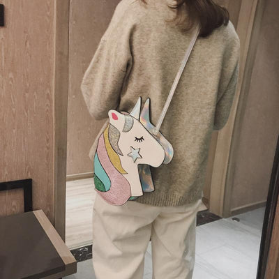 Unicorn Shape Crossbody Bag-Priority Shipping - Little Palace Store