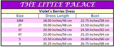 Violet's Berries Dress - Little Palace Store