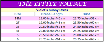 Violet's Bunny Dress - Little Palace Store