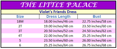 Violet's Friends Dress - Little Palace Store