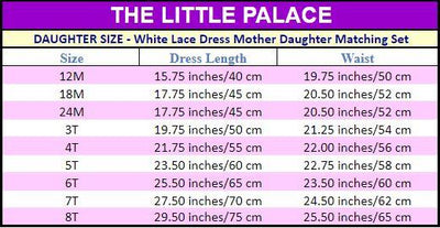 White Lace  Dress Mother Daughter Matching Set - Little Palace Store