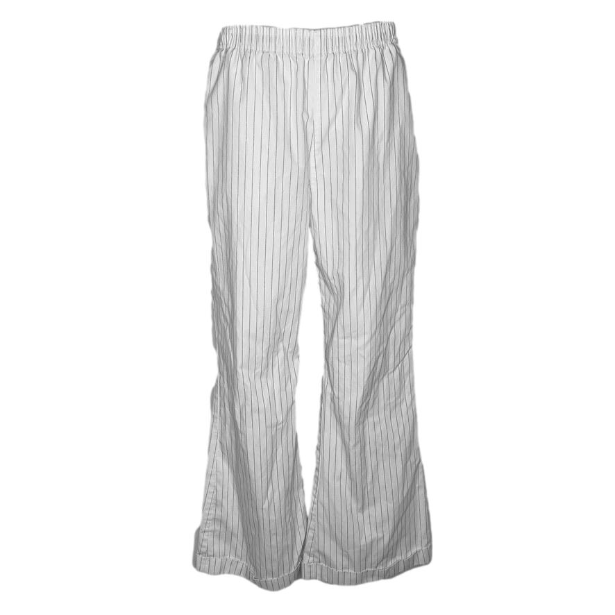 Dickies Pinstriped Elastic Waist Pant >> White, Large