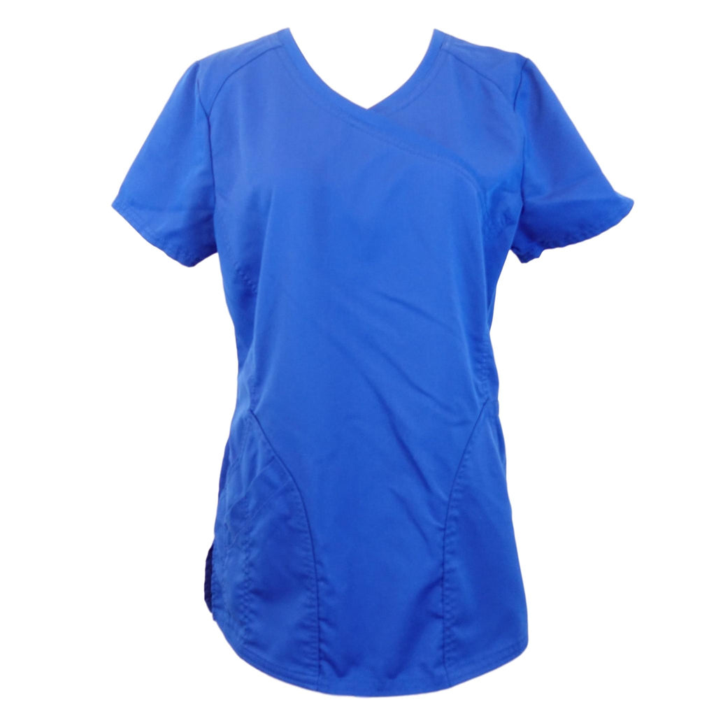 ScrubStar V-Neck Top (07818) >> Electric Blue, X-Small