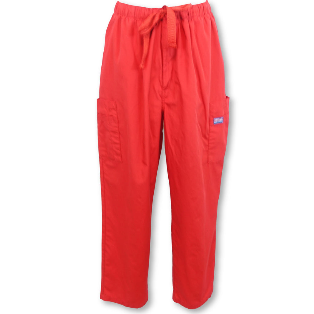 Cherokee Workwear Men's Cargo Pant (4000) >> Red, Large