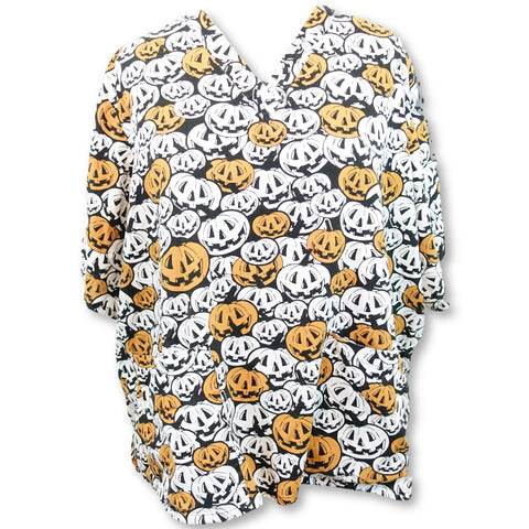 Tafford 2 Pocket Halloween Print Top (69) >> Patterned, 5X-Large