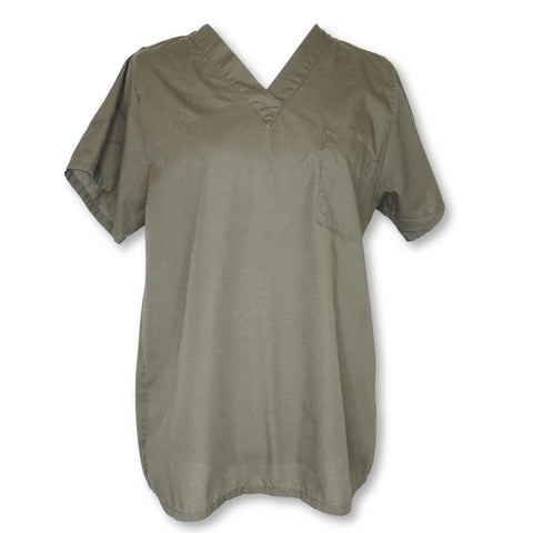 Tafford V-Neck Unisex Top >> Olive, Small
