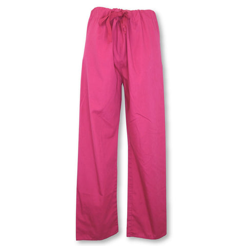 Crest Drawstring Waist Unisex Pant (414) >> Hot Pink, X-Small Short