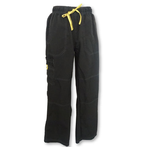 WonderWink Four Stretch Elastic Waist Cargo (5214) >> Black, Large