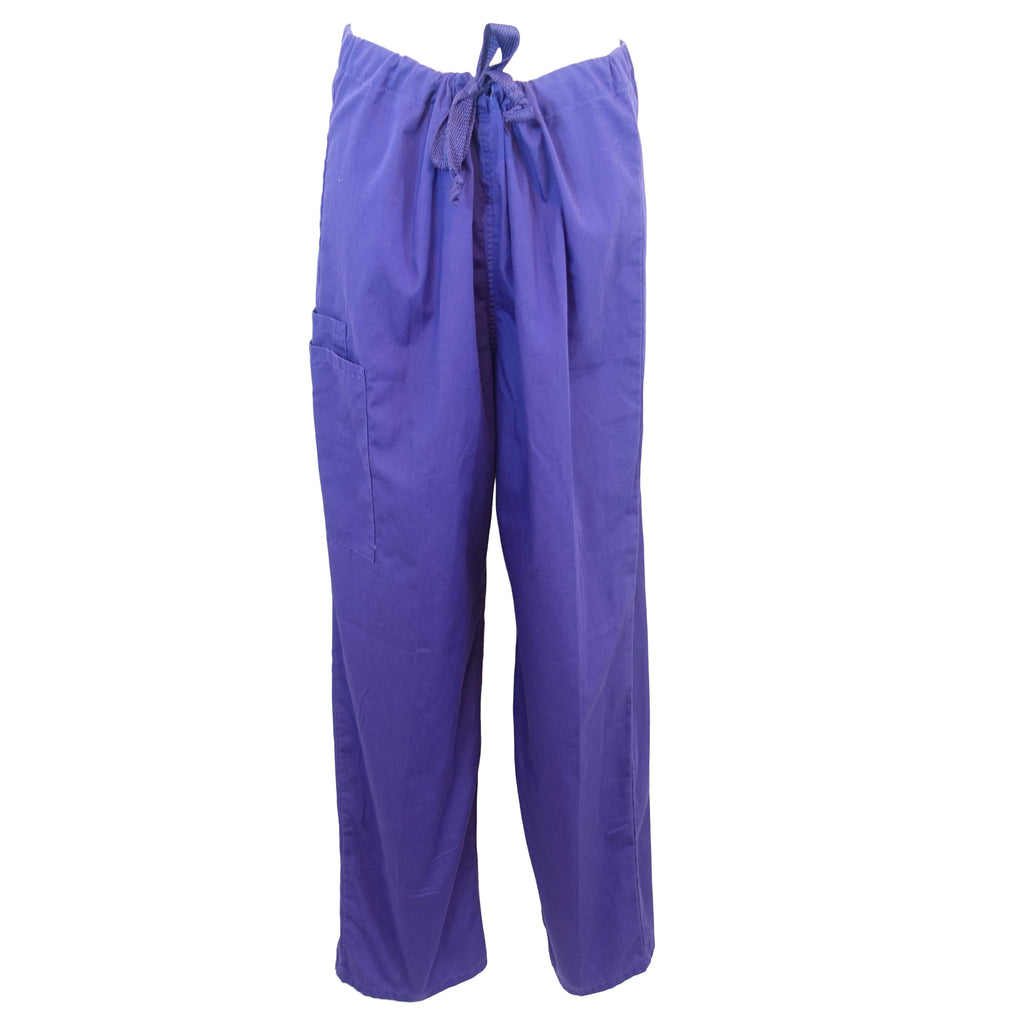 Cherokee Workwear Unisex Drawstring Pant (4100) >> Grape, Medium