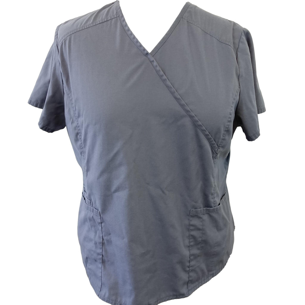 ScrubStar Mock Wrap Top (90003) >> Condor Grey, 2X-Large