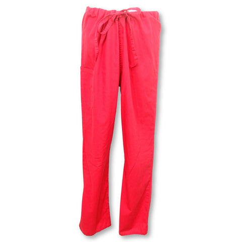ScrubZone Unisex Drawstring Waist Pant (85221) >> Red, Medium
