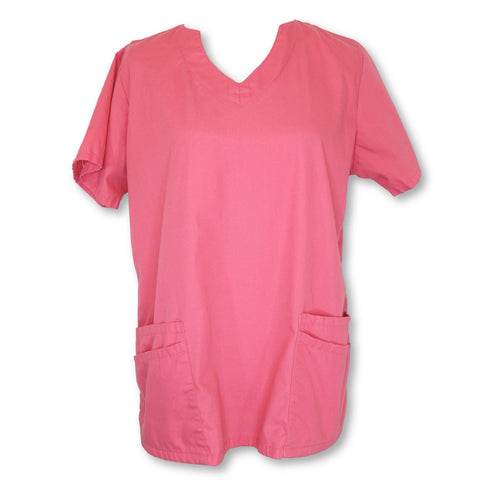 UA Scrubs Solid Print Top (194) >> Pretty Pink, Medium