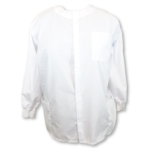Natural Uniforms Front Snap Jacket >> White, 2X-Large
