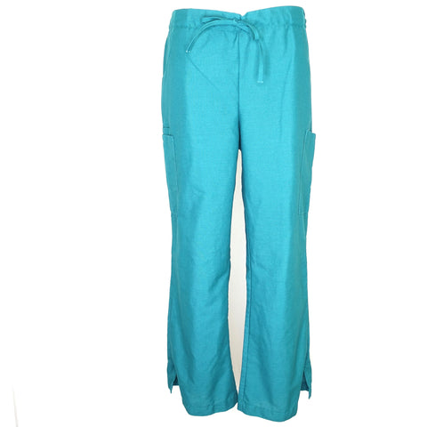 Medline Cargo Drawstring Pant (8865) >> Hunter Green, Large Petite
