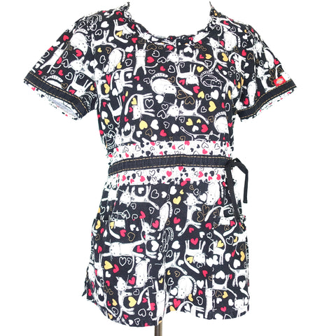 Dickies Round Neck Cat Print Top (82821) >> Patterned, Medium