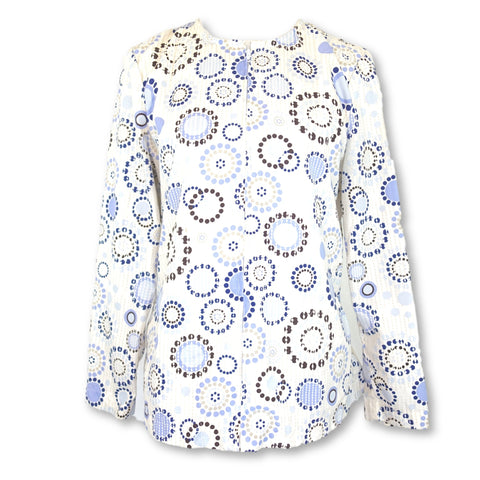 Los Angeles Rose Front Zipper Jacket (6712) >> Patterned, Small