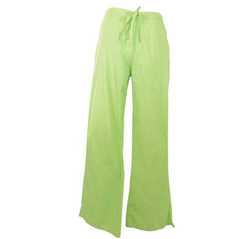 Cherokee Natural Rise Flare Leg Drawstring Pant (4101) >> Lime Green, X-Small