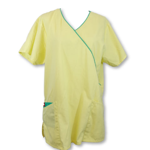 Dickies Mock Wrap Top >> Yellow, Medium
