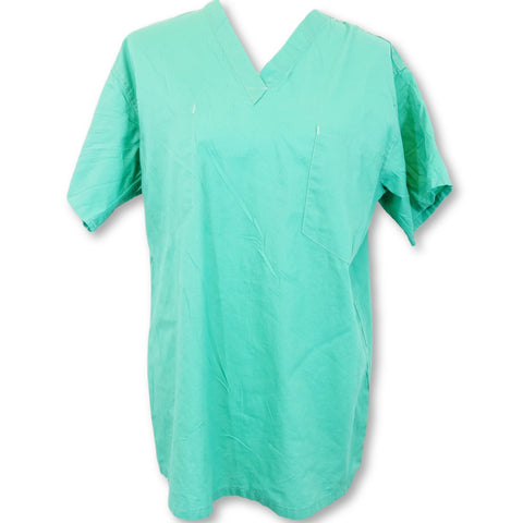 Medline Unisex V-Neck Top >> Surgical Green, Small